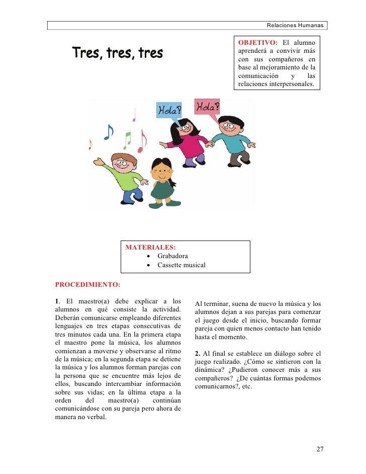 Relaciones Humanas                                                                OBJETIVO: El alumno                     ...