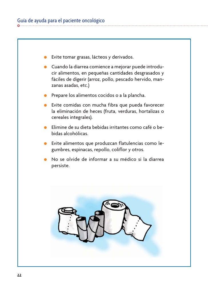 Guía de ayuda para el paciente oncológico                 ●   Evite tomar grasas, lácteos y derivados.             ●   Cua...