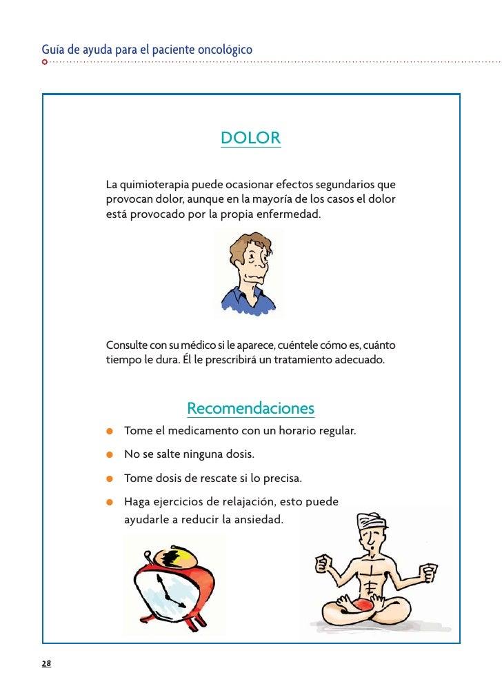 Guía de ayuda para el paciente oncológico                                         DOLOR              La quimioterapia pued...