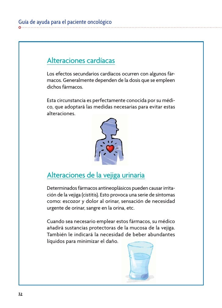 Guía de ayuda para el paciente oncológico                 Alteraciones cardíacas             Los efectos secundarios cardí...