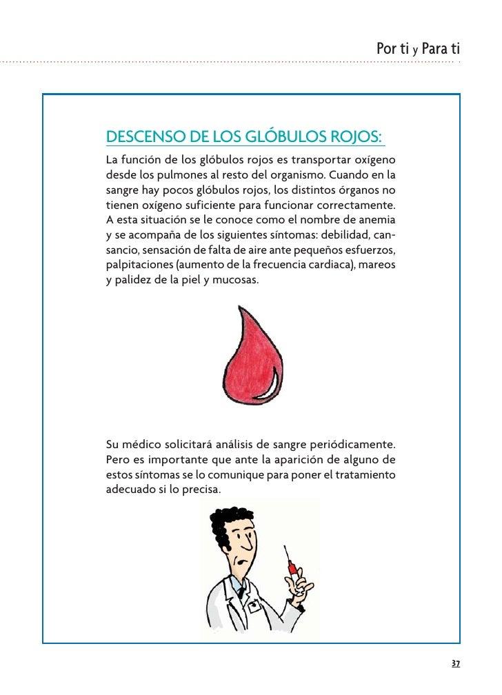 Por ti y Para ti    DESCENSO DE LOS GLÓBULOS ROJOS: La función de los glóbulos rojos es transportar oxígeno desde los pulm...