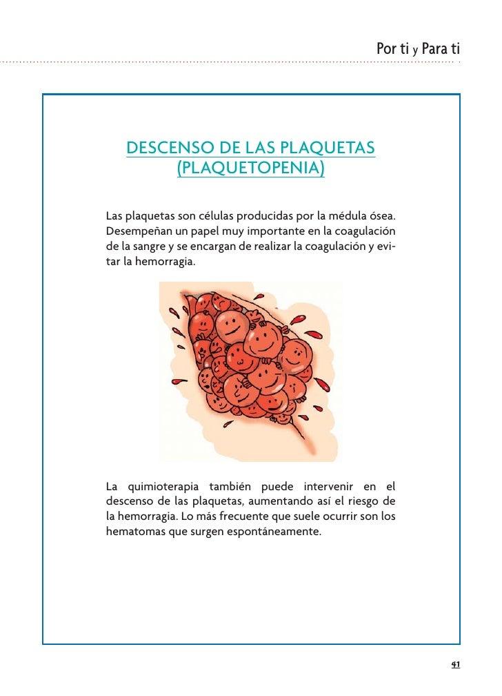 Por ti y Para ti         DESCENSO DE LAS PLAQUETAS          (PLAQUETOPENIA)  Las plaquetas son células producidas por la m...