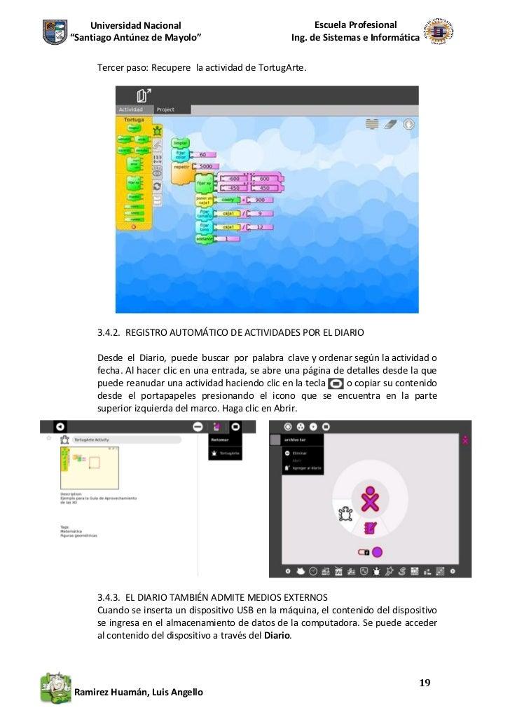 Manual para el uso de la laptop xo inferfaz sugar