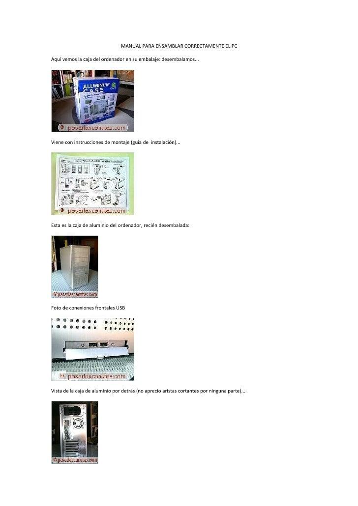 manuel del usuario para pc
