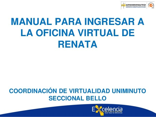 Manual para entrar a la oficina virtual de renata for Oficina virtual de sepe