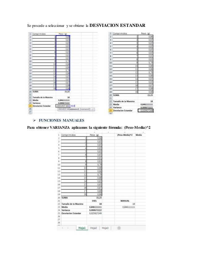 Manual para funciones de exel en control farmaceutico