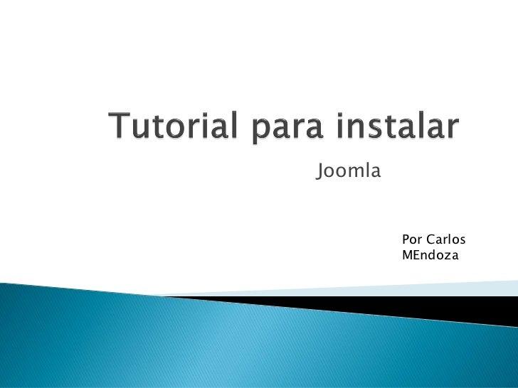 Joomla         Por Carlos         MEndoza