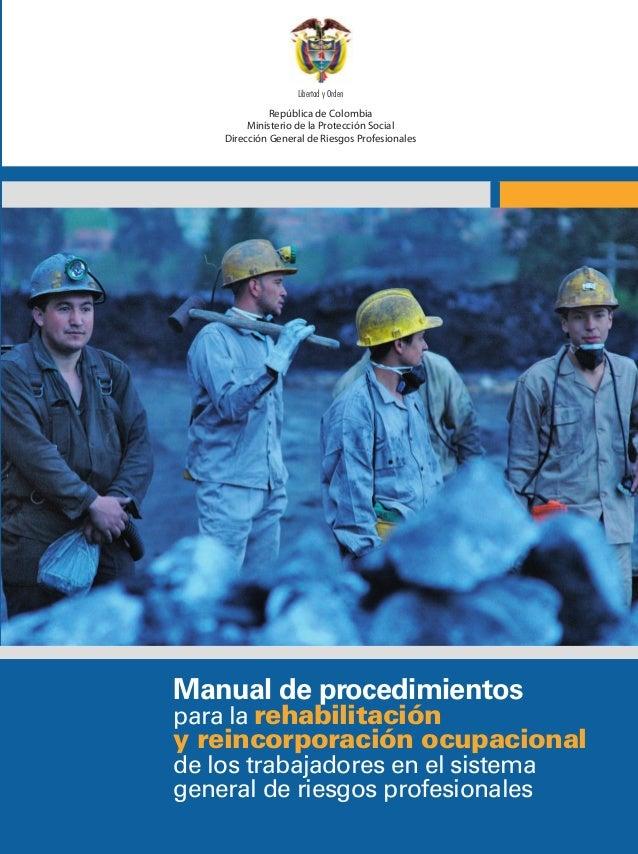 República de Colombia Ministerio de la Protección Social Dirección General de Riesgos Profesionales Libertad y Orden Repúb...