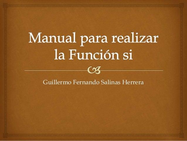 Guillermo Fernando Salinas Herrera