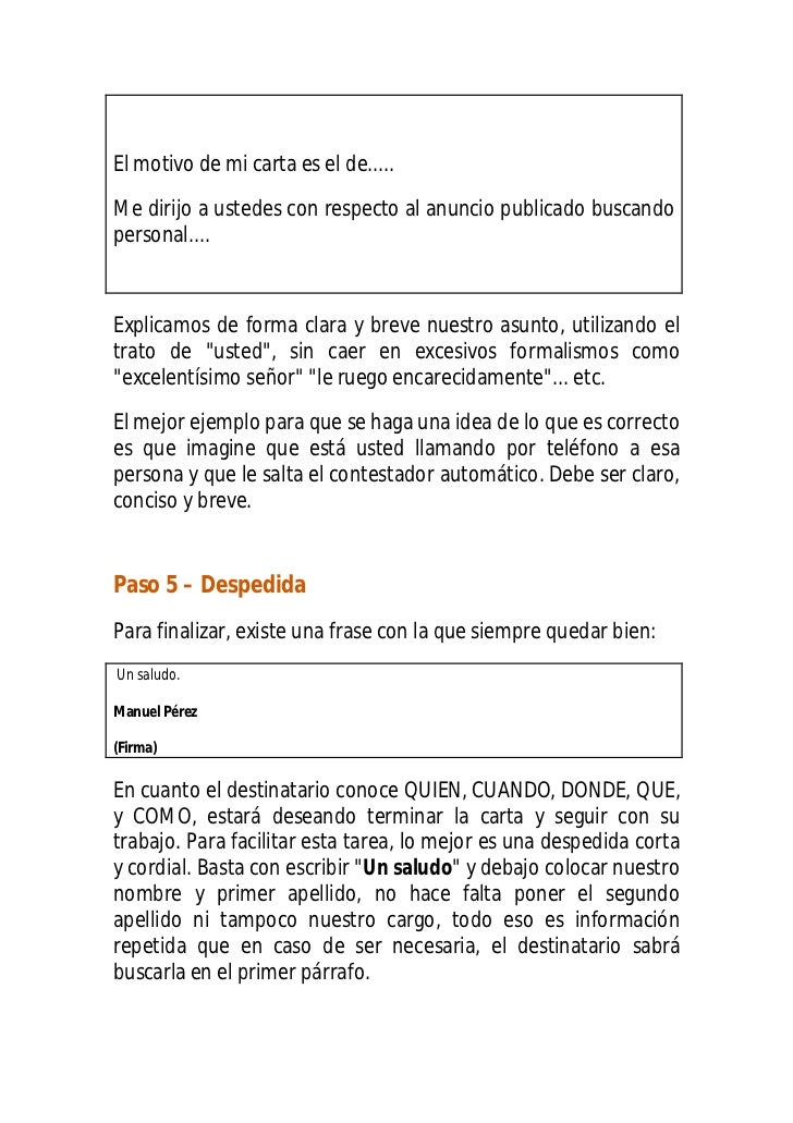 Manual Para Redactar Un Carta En 7 Minutos