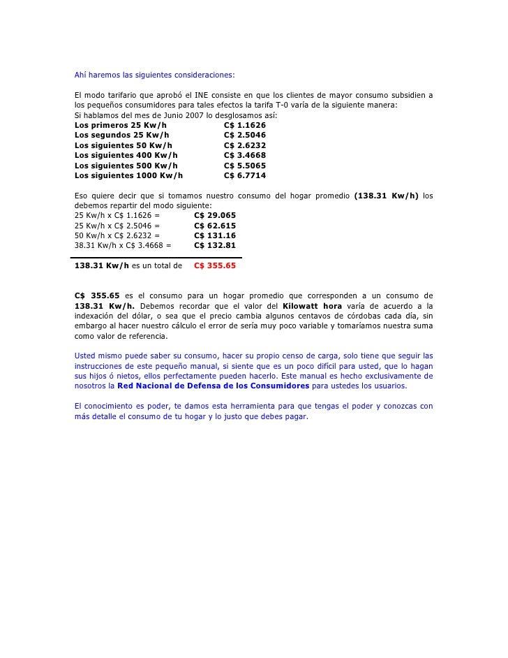 Manual para saber el consumo de energia for Cocina electrica consumo