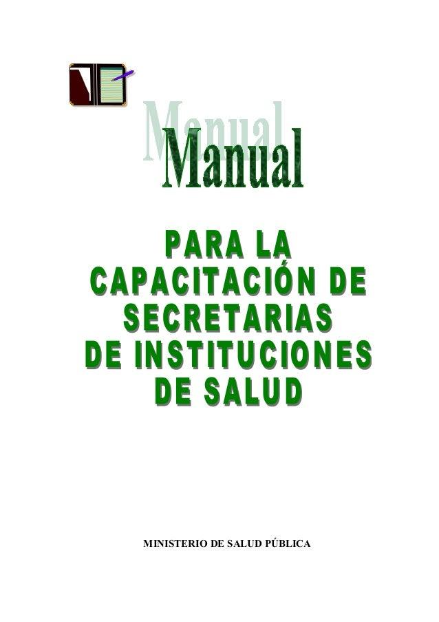 Manual para secretarias