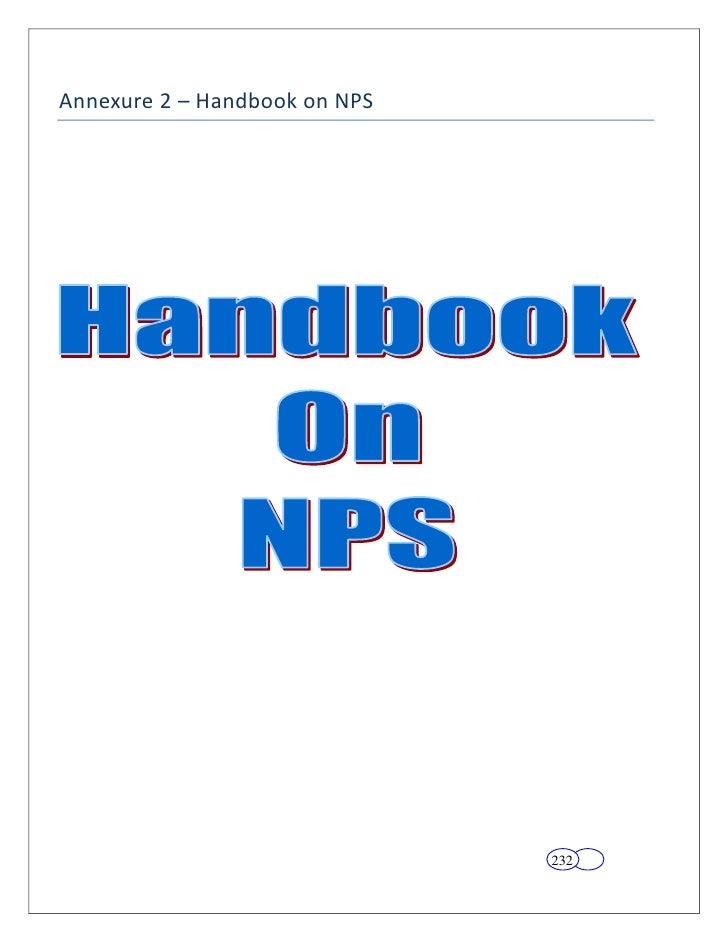 Annexure 2 – Handbook on NPS                               232