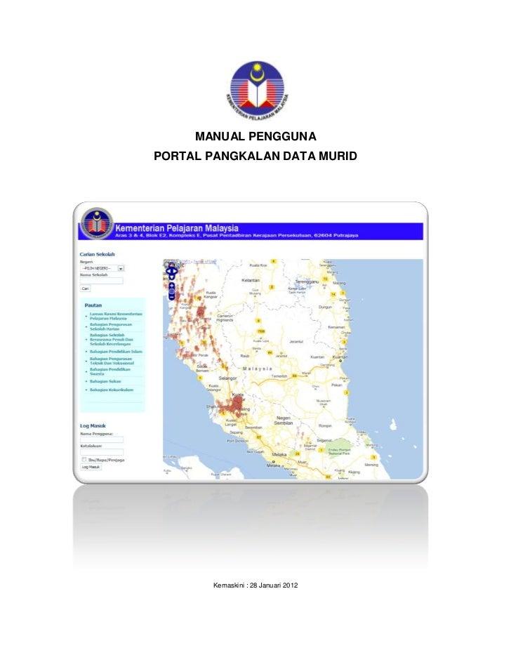 Manual Pengguna Portal Pangkalan Data Murid : Modul Pendftaran Kelas dan Modul Data Murid          MANUAL PENGGUNAPORTAL P...