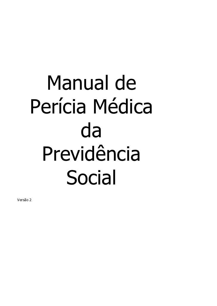 Manual pericia medica da previdencia social