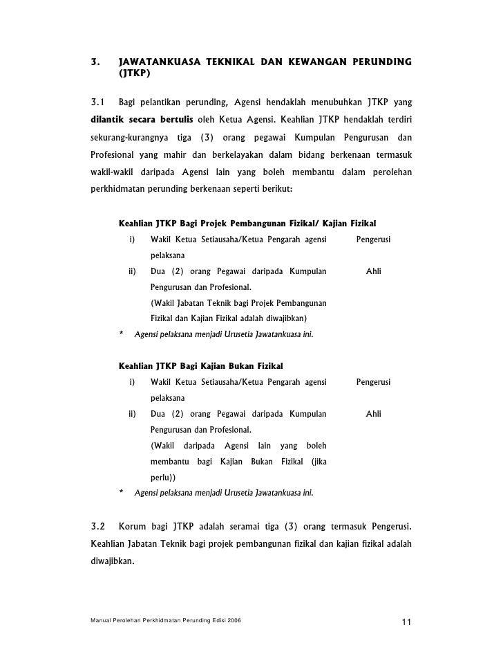 Manual Perolehan Perunding 2006