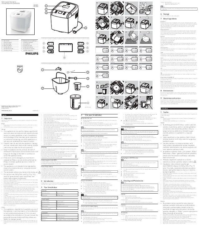 manual masina de facut paine philips hd9015 rh slideshare net philips instruction manual tv philips user manual downloads
