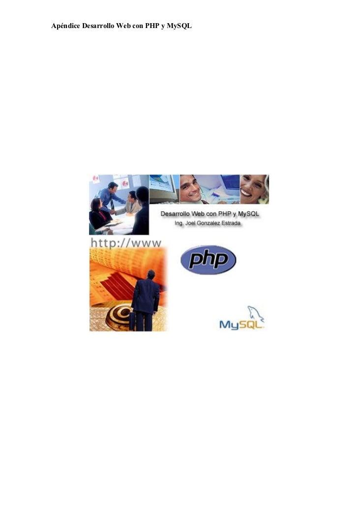 Apéndice Desarrollo Web con PHP y MySQL