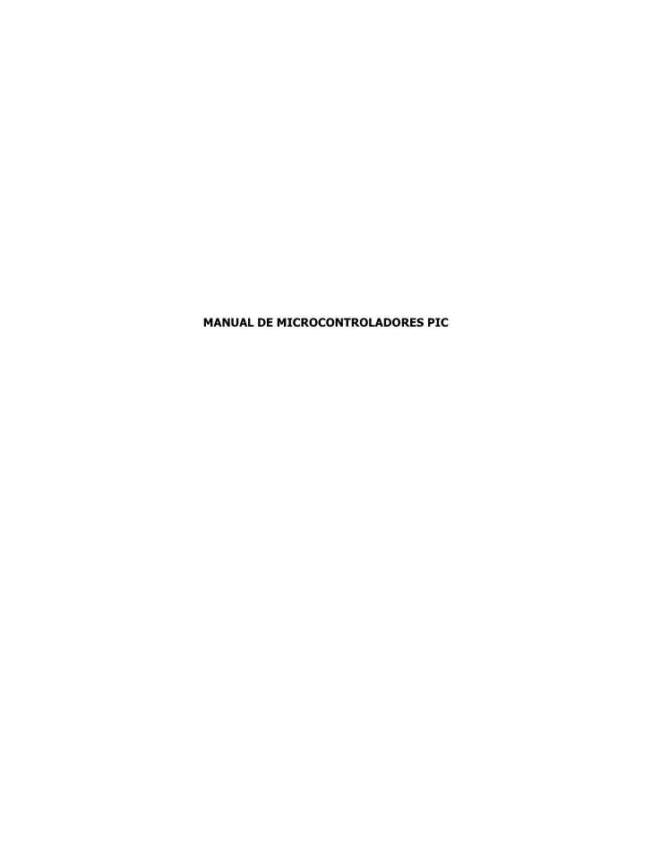 MANUAL DE MICROCONTROLADORES PIC