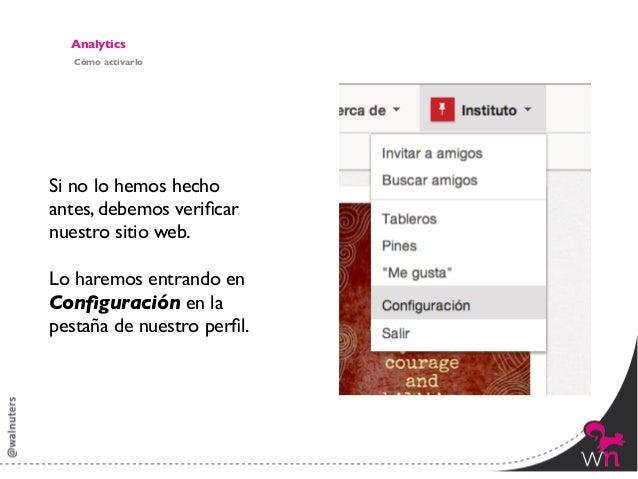 AnalyticsVerificando sitio web                 Clicamos en Verificar sitio web                                           ...
