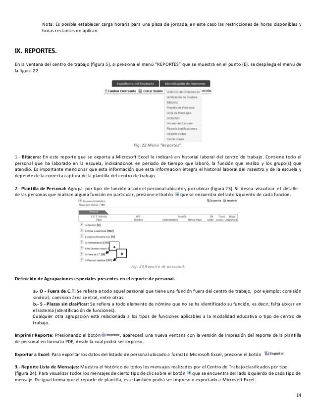 GUIA DE USUARIO MANUAL PARA LA CAPTURA DE PLANTILLA 2014-2015