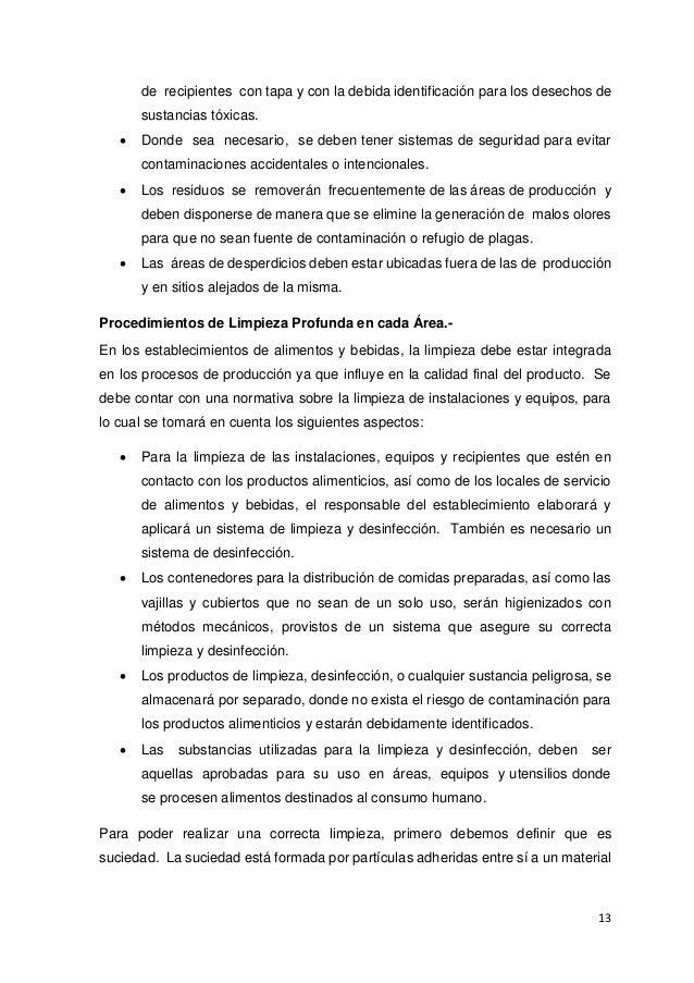 Manual poes for Manual de procedimientos de alimentos y bebidas de un hotel