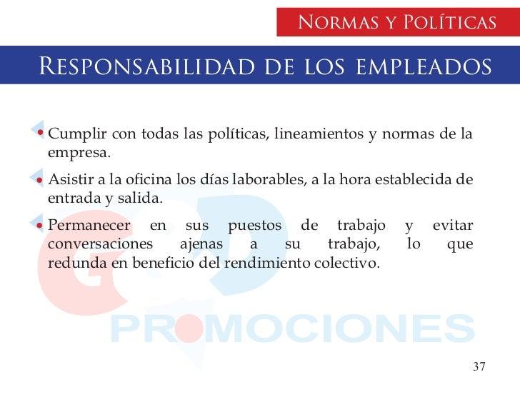 Manual politicas for Horario de oficina de empleo