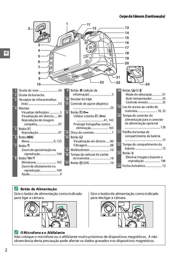 nikon d3200 | manual portugues