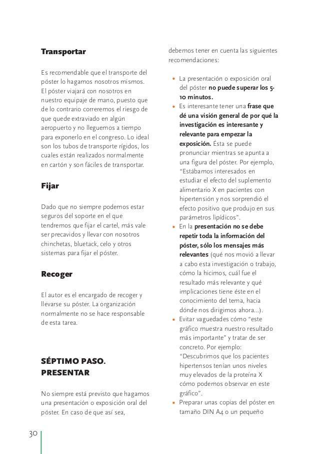Manual para realizar poster cient ficos for Fondos de escrito