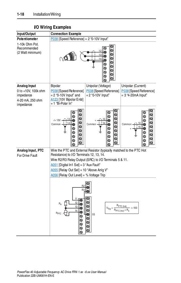 manual power flex 40 en powerflex 70 wiring 28 1 18 installation wiring powerflex 40