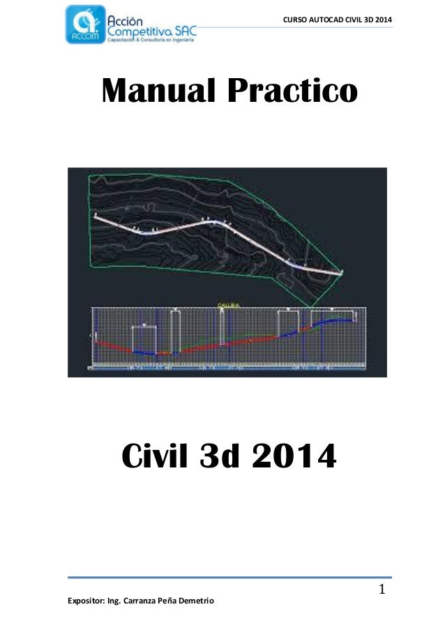 manual practico civil 3d 2014 rh slideshare net manual autocad civil 3d 2014 pdf manual autocad civil 3d 2014 pdf