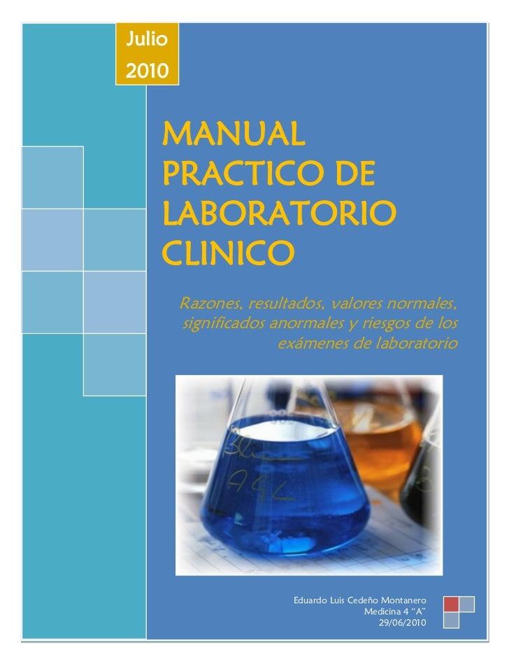 Manual de laboratorio clinico de hematologia