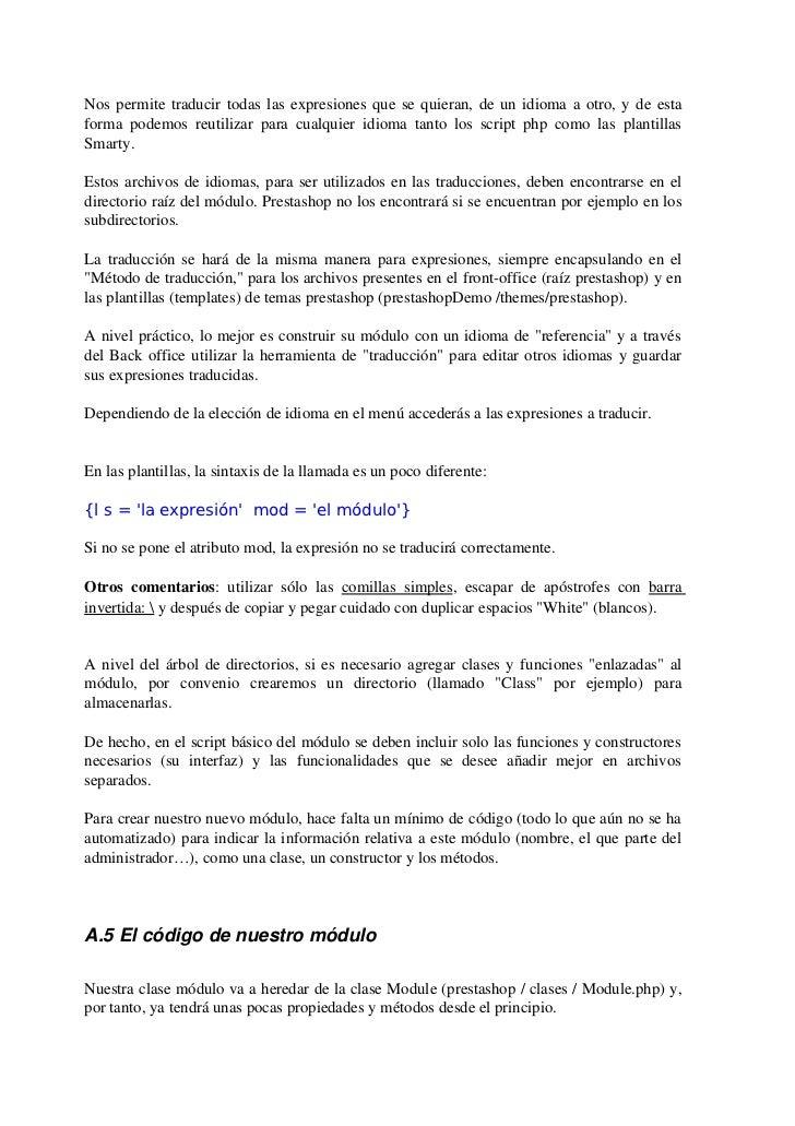 Manual prestashop by mario bescos aranda
