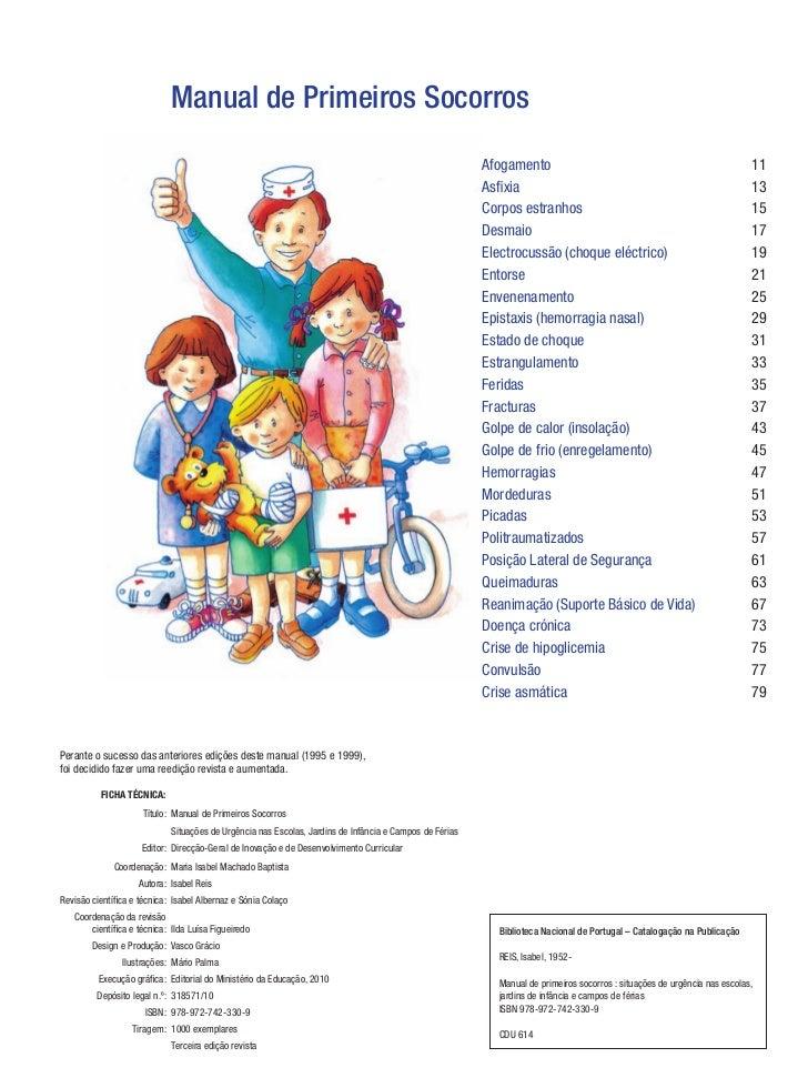 Manual de Primeiros Socorros | Direção-Geral da Educação