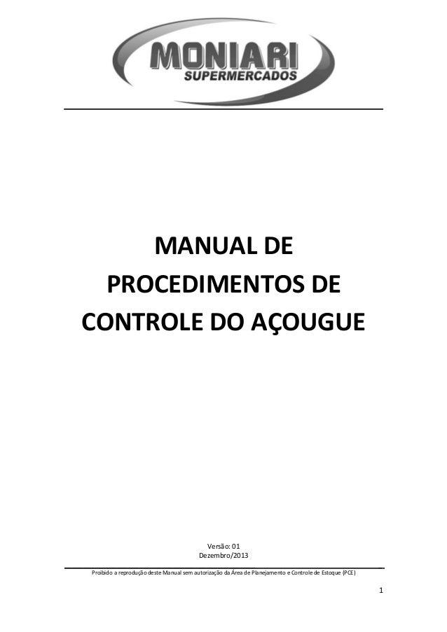 Manual procedimentos açougue