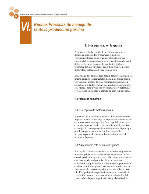 Manual produccion porcino for Manual de procedimientos de una empresa de alimentos