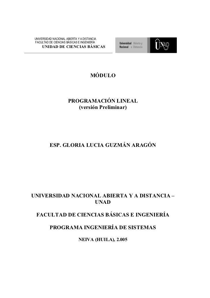 UNIVERSIDAD NACIONAL ABIERTA Y A DISTANCIA  FACULTAD DE CIENCIAS BÁSICAS E INGENIERÍA       UNIDAD DE CIENCIAS BÀSICAS    ...