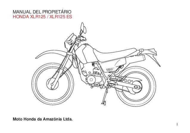 manual proprietario xlr 125 rh es slideshare net honda xlr 125 manual pdf honda xr 125 manual