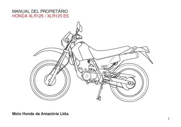 Manual proprietario xlr 125