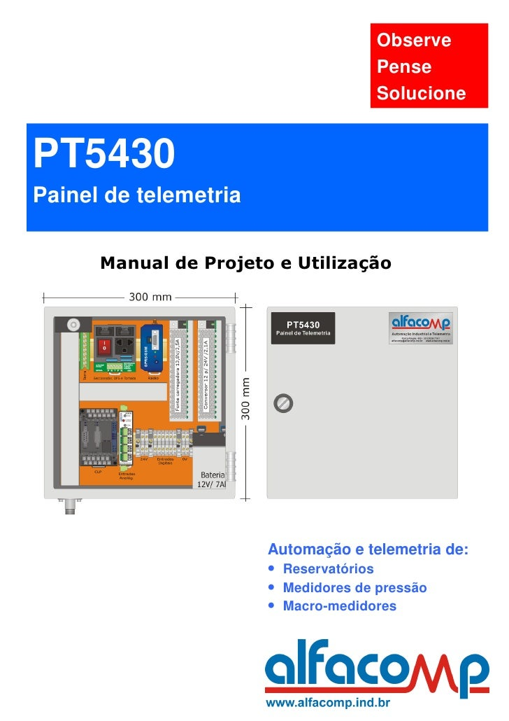 Observe                                     Pense                                     SolucionePT5430Painel de telemetria ...