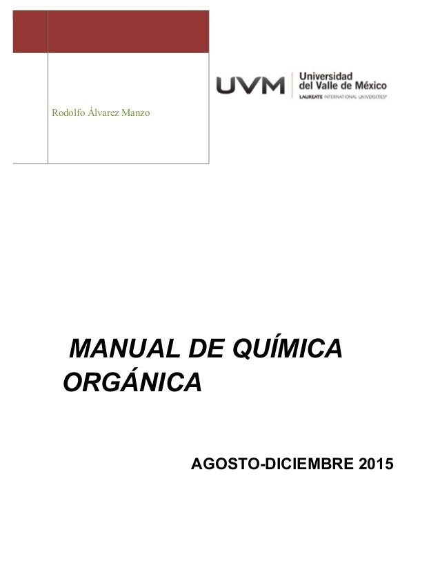Manual química orgánica nutricion