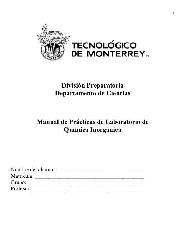 1                  División Preparatoria                Departamento de Ciencias         Manual de Prácticas de Laboratori...