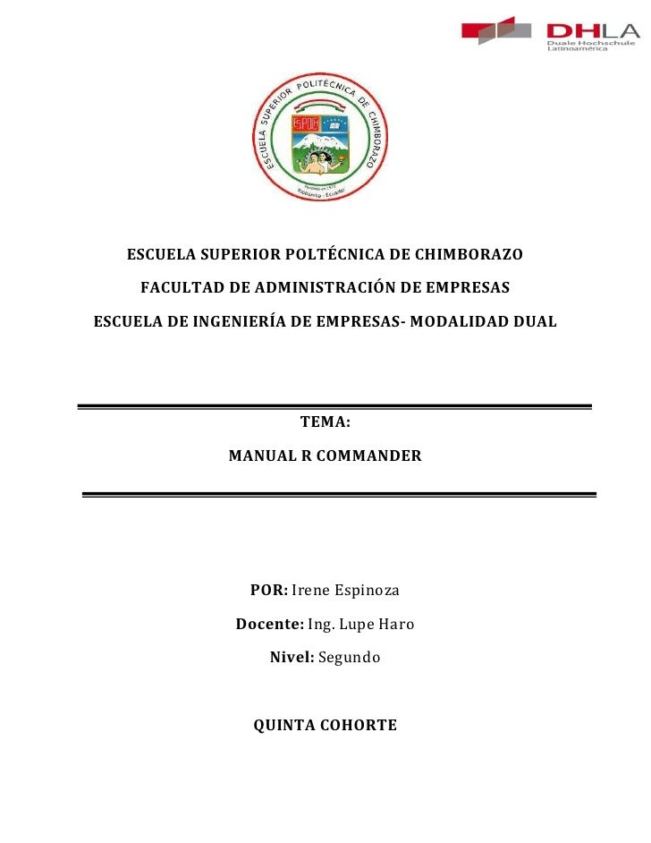 ESCUELA SUPERIOR POLTÉCNICA DE CHIMBORAZO    FACULTAD DE ADMINISTRACIÓN DE EMPRESASESCUELA DE INGENIERÍA DE EMPRESAS- MODA...