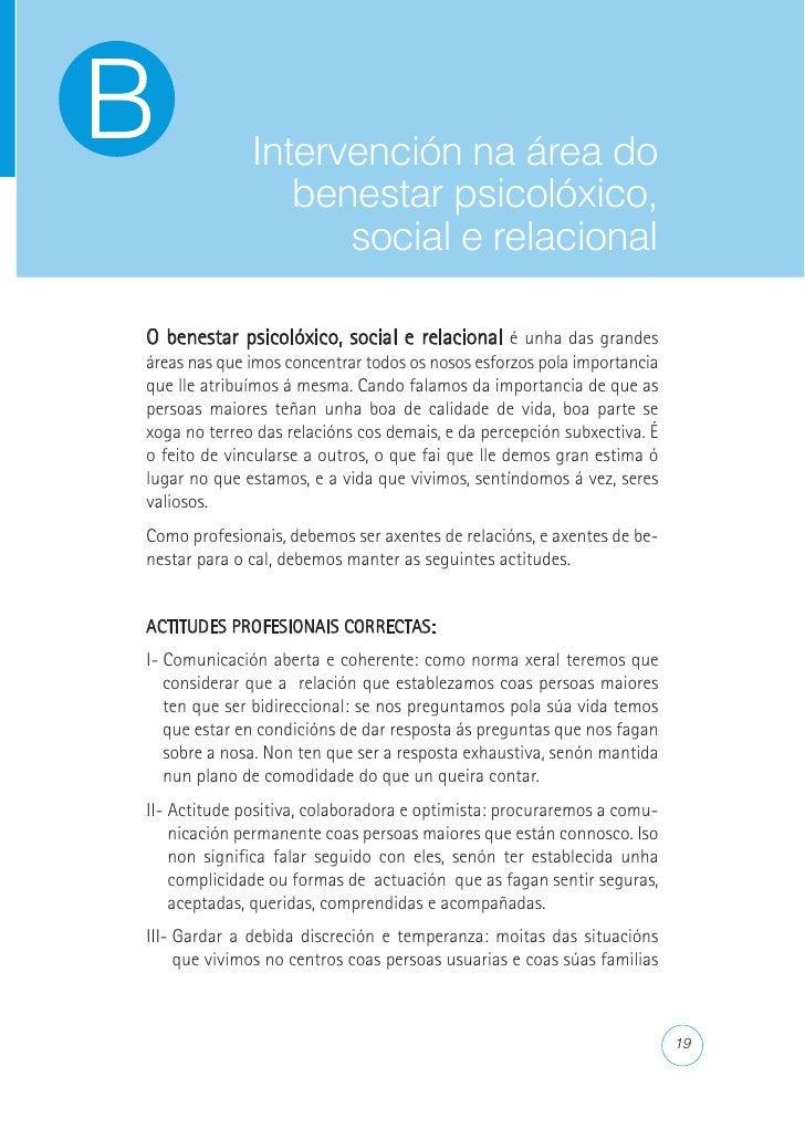 Recomendacións para coidar           ás persoas maiores  ACTITUDES PROFESIONAIS CORRECTAS NA COMUNICACIÓN E O TRATO COAS P...