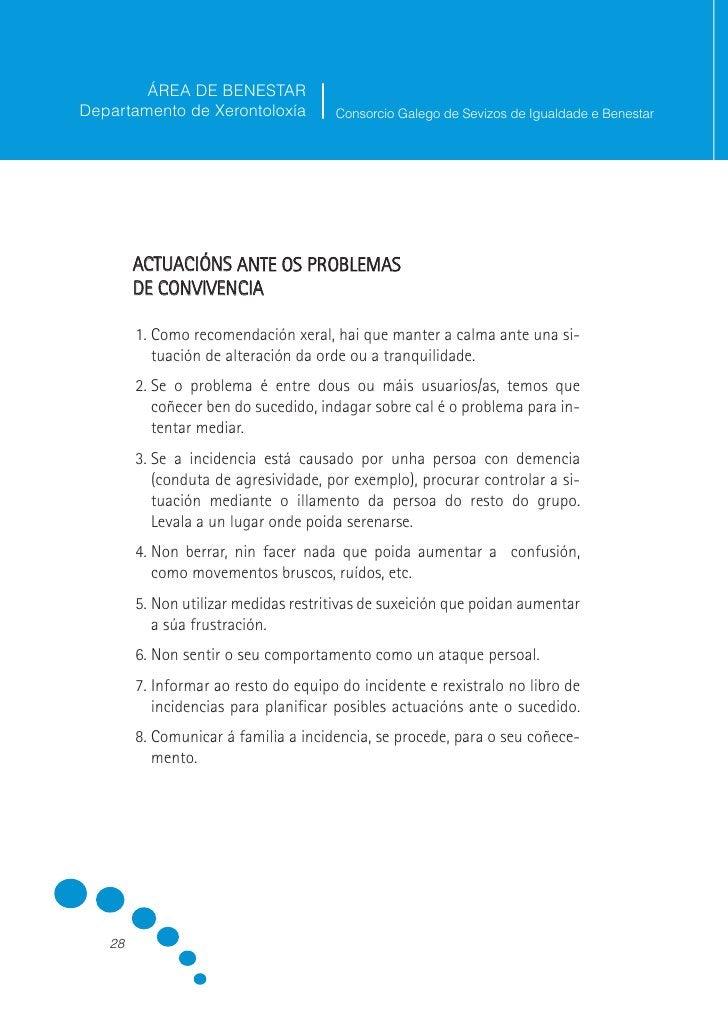 ÁREA DE BENESTAR Departamento de Xerontoloxía         Consorcio Galego de Sevizos de Igualdade e Benestar              3. ...