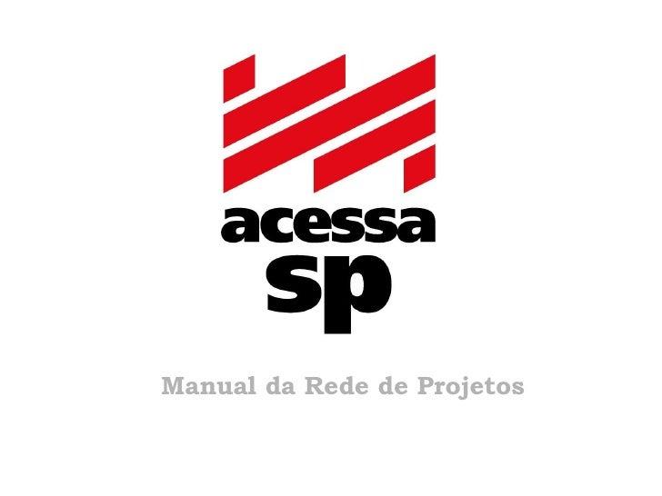 Manual da Rede de Projetos