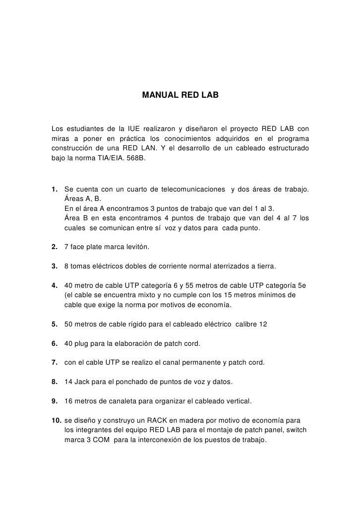 Manual red lab