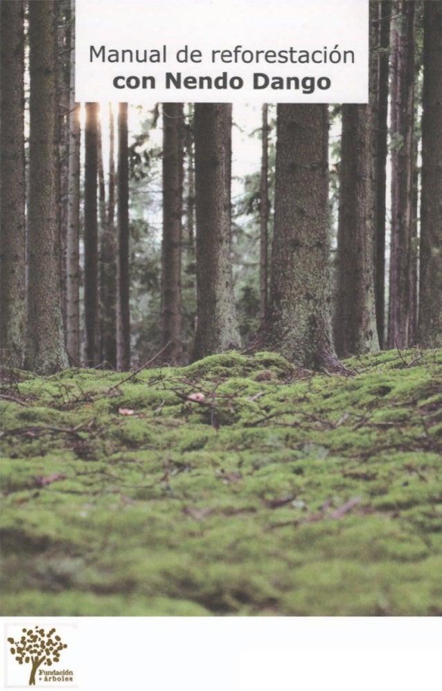Manual de reforestacióncon Nendo Dango  Bolas de gratitud e ilusión verde
