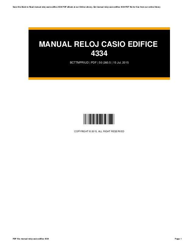 manual reloj casio edifice 4334 rh slideshare net Relojes Casio Precios Reloj Puma