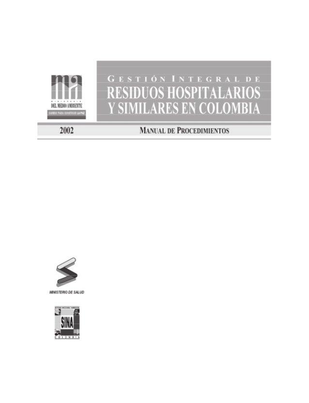 ANDRÉS PASTRANA ARANGO Presidente de la República de Colombia JUAN MAYR MALDONADO Ministro del Medio Ambiente CLAUDIA MART...